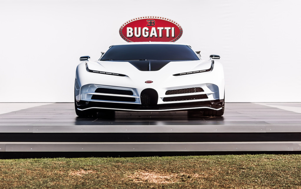 bugatti centodieci pebble beach